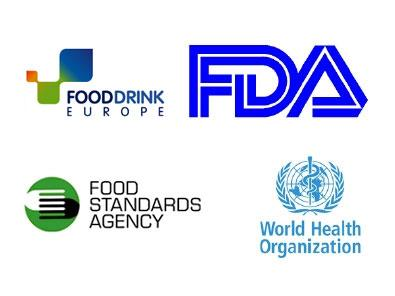 fooddrink europe logo fda logo food standards agency logo world health organization logo